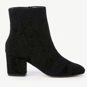 Sole Society Velvet Embossed Dinah Ankle Bootie